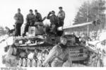 Panzer IV tank and crew of German Army Group North in northern Russia, Sep 1943