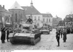 Panzer IV Ausf. A tanks parading in Sudetenland, Germany (annexed from Czechoslovakia), Oct 1938