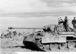 German Panzer V Panther Ausf. A tank during the retreat from Romania to Hungary, Aug-Sep 1944