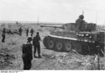 German Waffen-SS troops and a Tiger I heavy tank, Kursk, Russia, Jun-Jul 1943