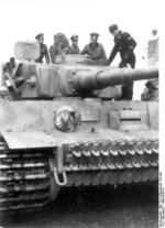 German SS officers inspecting a Tiger I heavy tank, 1943