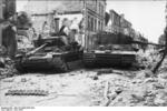 Wrecks of German Tiger I and Panzer IV tanks, Villers-Bocage, France, Jun 1944, photo 1 of 4