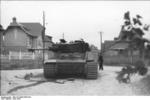 Wrecked German Tiger I heavy tank, Viller-Bocage, France, Jun 1944
