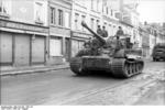 Tiger I heavy tank in a French town, Jul-Aug 1944