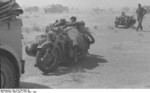 German troops resting on their R75 motorcycles, North Africa, Mar-May 1941