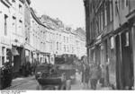 German vehicles and troops in Maastricht, the Netherlands, 10 May 1940