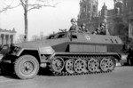 SdKfz. 251 ausf. A halftrack vehicle at the Lustgarten in Berlin, Germany, 1940