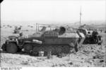 German SdKfz. 251 halftrack vehicle at Bir al Hakim, near Tobruk, Libya, 1 Jun 1942