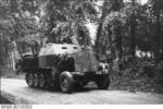 German SdKfz. 7 half-track vehicle in France, 21 Jun 1944