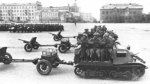 T-20 Komsomolets armored tractors on parade, circa early 1940s