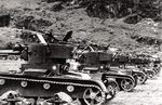 Nationalist Chinese T-26 light tanks, Hunan, China, date unknown