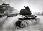 T-34 Model 1943 medium tank in Stalingrad, Russia, early 1943