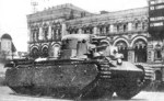 First prototype of T-35 heavy tank on parade, Moscow, Russia, 1 May 1934, photo 2 of 2