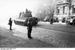German Tiger II heavy tank in Budapest, Hungary, Oct 1944, photo 1 of 3