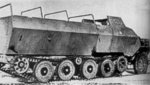 Side view of Japanese Type 1 Ho-Ha armored half-track vehicle, circa 1944