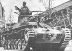 Japanese Type 97 Chi-Ha medium tank on parade, circa 1942-1943