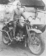 Japanese Type 97 motorcycle with sidecar in China, date unknown