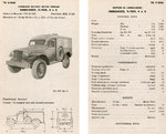 Specification sheet for the Dodge WC54 field ambulance, 1942
