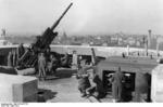 10.5 cm FlaK 38 gun and crew atop the Berlin Zoo Flak Tower, Berlin, Germany, Apr 1942