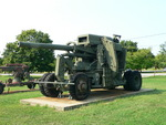 120 mm Gun M1 anti-aircraft weapon on display at the United States Army Ordnance Museum, Maryland, United States, 14 Aug 2007; photo 1 of 3