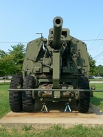 120 mm Gun M1 anti-aircraft weapon on display at the United States Army Ordnance Museum, Maryland, United States, 14 Aug 2007; photo 3 of 3