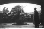 12.8 cm FlaK 40 anti-aircraft gun in a flak tower, Germany, 1943, photo 1 of 2