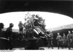 12.8 cm FlaK 40 anti-aircraft gun in a flak tower, Germany, 1943, photo 2 of 2