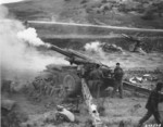 155 mm Howitzer M1 of US 24th Infantry Division, Korea, 1952