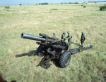 M114 howitzer in firing position, 17 Sep 1985