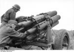 German 15 cm NbW 41 rocket launcher in Russia, summer 1942