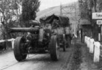 15 cm sFH 18 heavy field artillery being towed in Hungary, Aug 1944