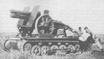 15-cm sIG 33 close infantry support gun mounted on Panzer I chassis, circa mid-1930s