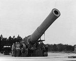 16-inch coastal defense gun at Fort Story, Virginia, United States, Apr 1942