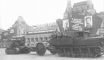 203 mm Howitzer M1931 gun on parade, date unknown