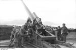 German 21 cm Mrs 18 heavy howitzer and crew, Lapland, Norway or Finland, 1943