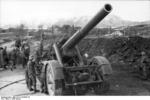 German 21 cm Mrs 18 heavy howitzer at Bodø, Norway, fall 1943, photo 3 of 3
