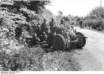 German troops with a camouflaged 3.7 cm PaK 36 anti-tank gun in Belgium, May 1940