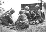 US Marine Corps 37 mm Gun M3 and crew, Saipan, Mariana Islands, Jun 1944