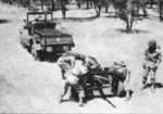 Anti-tank company of 1st Filipino Infantry Regiment in exercise with 37 mm Gun M3, 1943, photo 1 of 5