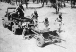 Anti-tank company of 1st Filipino Infantry Regiment in exercise with 37 mm Gun M3, 1943, photo 2 of 5