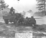 WC-4 truck and 37 mm Gun M3 of US 30th Division in exercise, south of Peedee River, Cheraw, South Carolina, United States, 19 Nov 1941