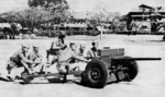 37 mm Gun M3 in service with the Philippine Scouts, Fort William McKinley near Manila, Philippine Islands, circa 1941