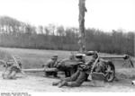 German 7.5 cm PaK 40 gun and crew in Northern France, Oct 1943; note Kar98k rifle