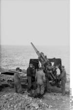 German 8.8 cm FlaK 36 anti-aircraft battery on the French coast, 1942, photo 3 of 3