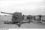 German Army 8.8 cm FlaK 18 gun deployed in an anti-tank role, Bir al Hakim, near Tobruk, North Africa, Jun 1942, photo 2 of 2