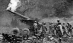 US M115 howitzer firing on Chinese positions in Korea, 10 Jun 1951