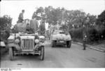 German troops with SdKfz. 10 and AB 41 vehicles, Rimini, Italy, 1944