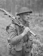 Private H. E. Goddard of Perth Regiment of the Canadian 5th Armored Division near Arnhem, Netherlands, 15 Apr 1945