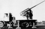 Vehicle-mounted Italian Cannone da 90/53 anti-aircraft gun, date unknown