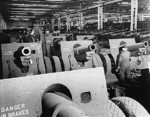 155 mm Howitzer Carriage M1918 guns being prepared for shipment to Britain, 1941